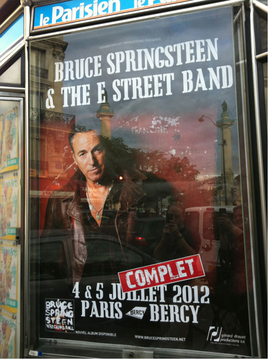 Bruce Springsteen, 4th of July, Paris Bercy dans Coups de coeur parisposter