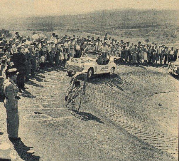 Tour 1958 Gaul Ventoux Virage de St Estève
