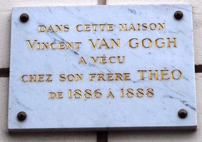 plaque Van Gogh blog