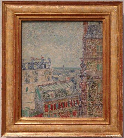 toile Van Gogh rue Lepic blog