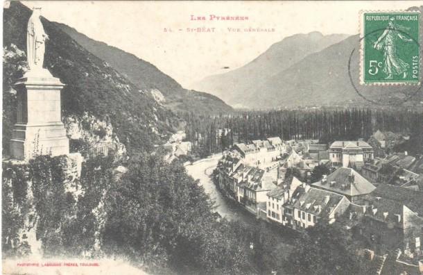 Carte postale Saint-Béat