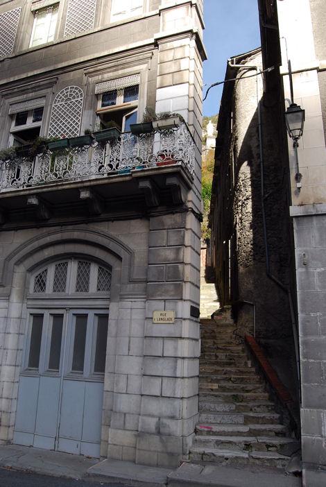 Saint-Béat escalier blog