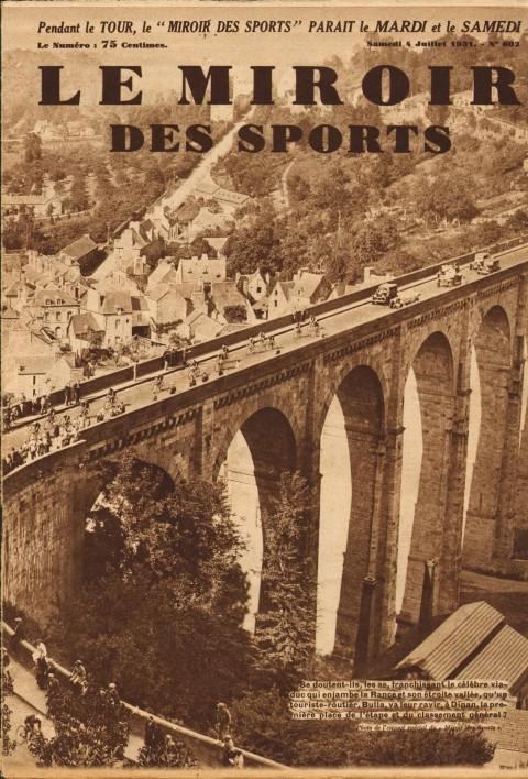 Pont de Dinan Tour 1931 Miroir des Sports