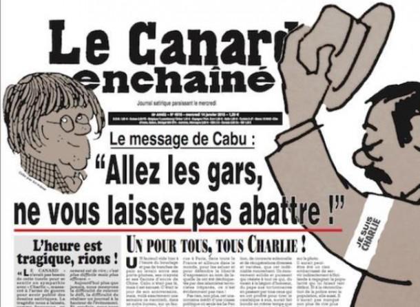 CANARD-ENCHAINE Une du 14 janvier 2015