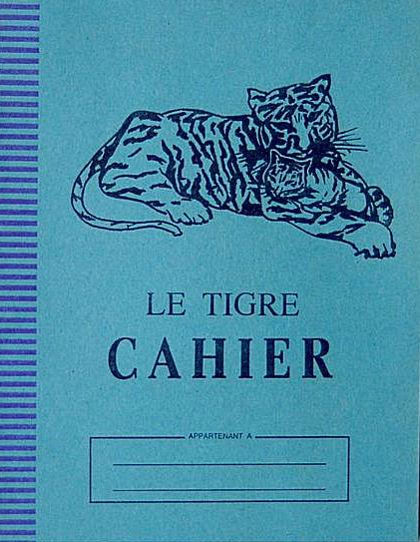 cahier Le Tigre blog