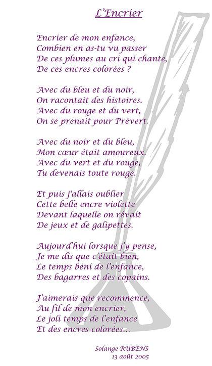 Poème L'encrier blog