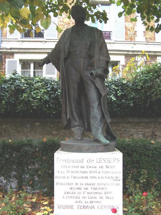 statue Lesseps Versailles