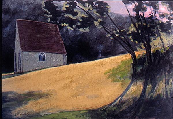 tableau chapelle Saint-Céneri blog
