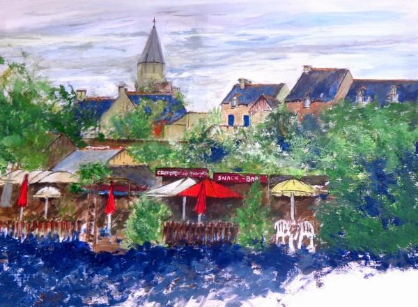 St-Suliac-la-guinguette aquarelle