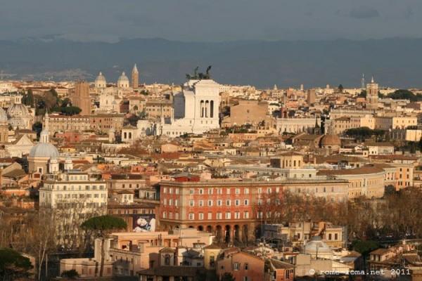 Rome depuis le Janicule blog