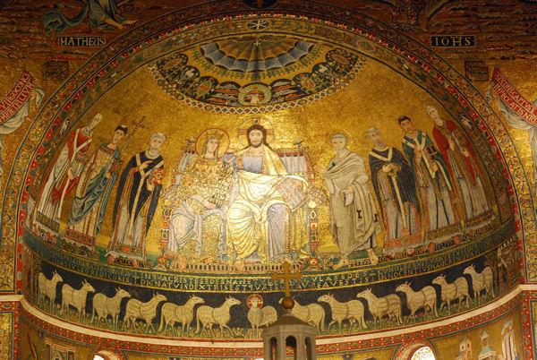 Basilique Trastevere interieur blog 2