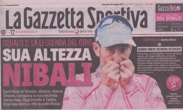 Couverure Gazzetta Giro blog