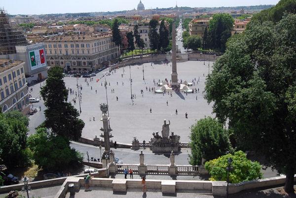 Piazza deel Popolo vue du Pincio blog