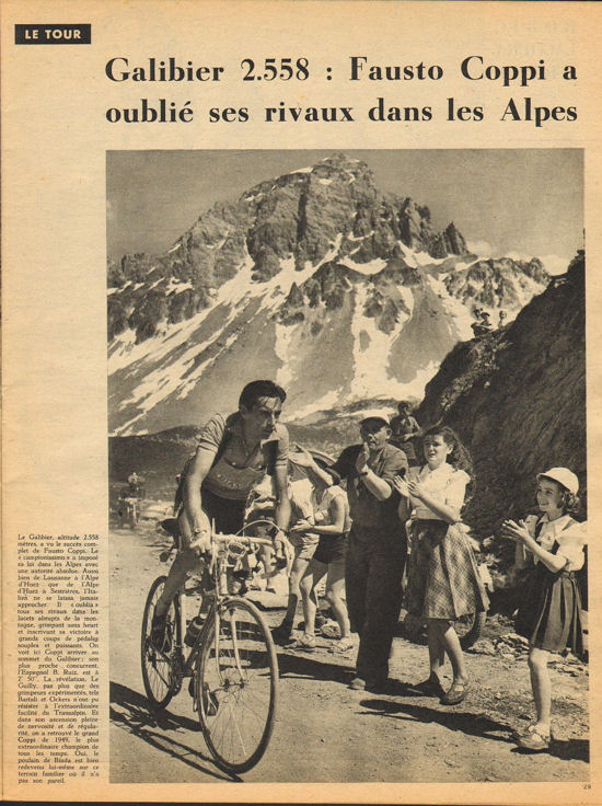 Coppi Galibier Tour 1952 blog