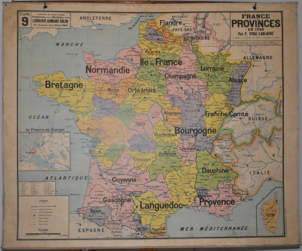Vieille carte de France