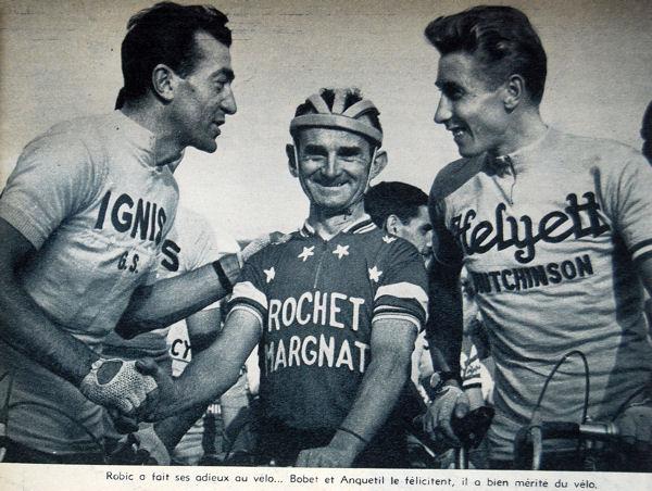 Robic blog avec Bobet et Anquetil