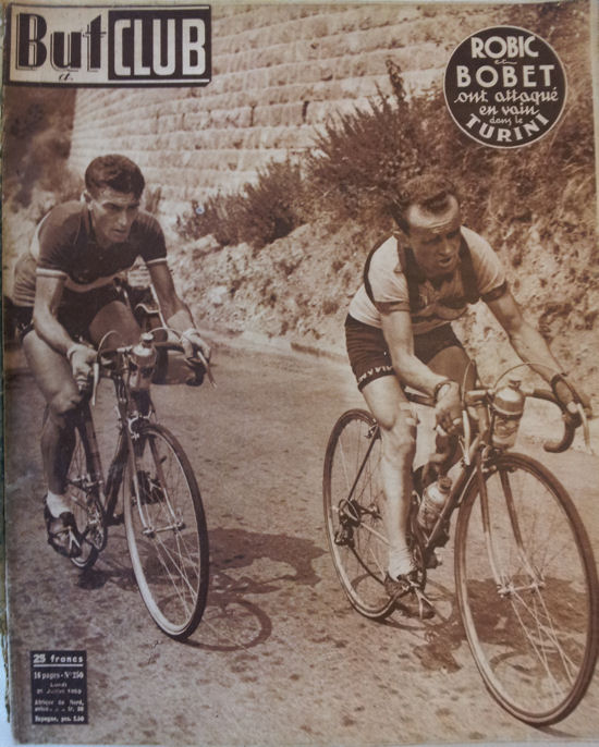 Robic blog Tour 1950  avec Bobet