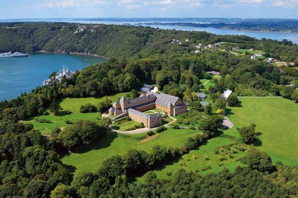 Abbaye Landevennec vue aérienne