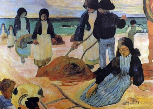 gauguin-ramasseurs-varech-reproduction-grands-maitres-peinture-sur-toile-galerie-art-artiste-peintre-copiste-professionnel-qualite-tableaux-musee-france-culture
