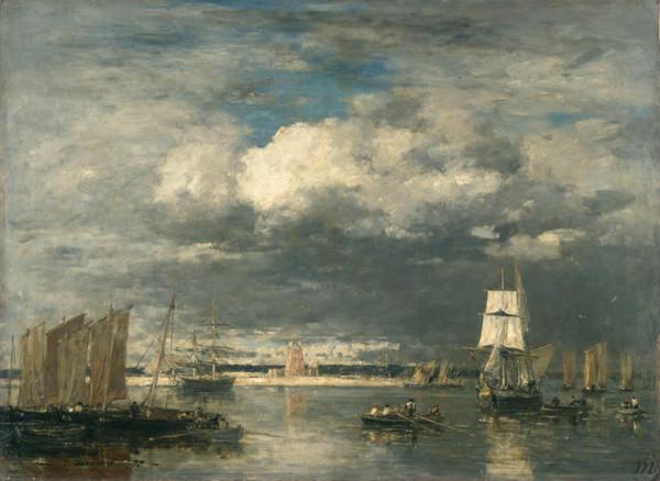 Le-Port-de-Camaret-par-ciel-d-orage_Eugène Boudin