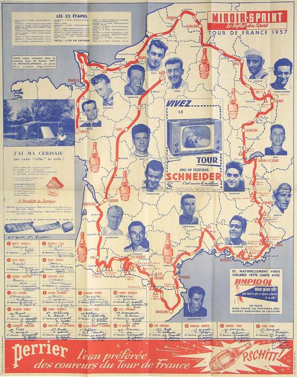 1957 carte du Tour