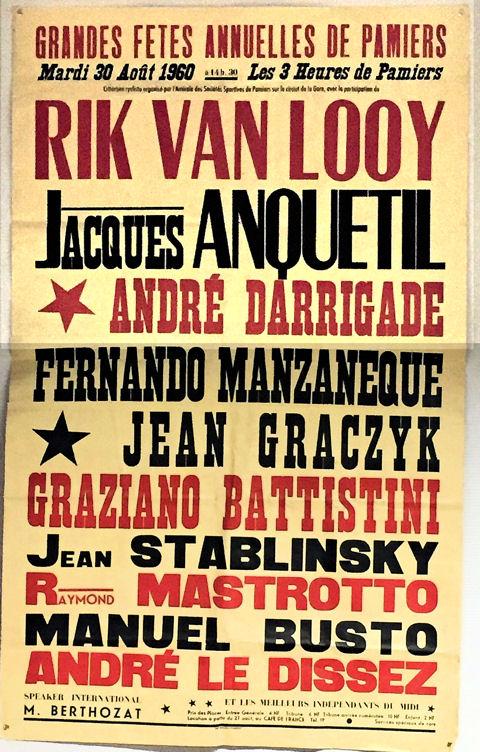 Affiche Critérium Pamiers 1960 2 PHI blog.