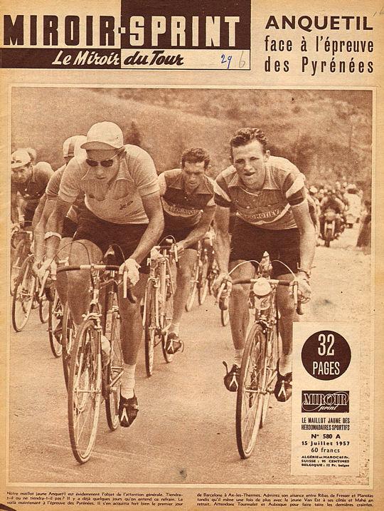 Tour 1957 Anquetil à l'épreuve des Pyrénées blog