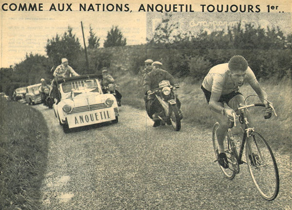 Tour 1957 Anquetil clm à Libourne blog