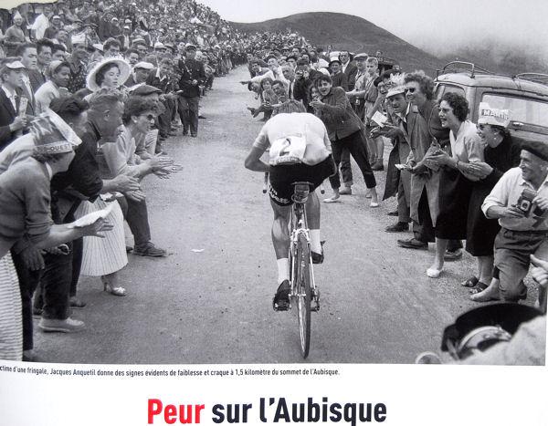Tour 1957 Anquetil dans l'Aubisque blog
