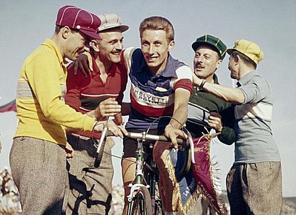 Tour 1957 Anquetil et Frères Jacques blog