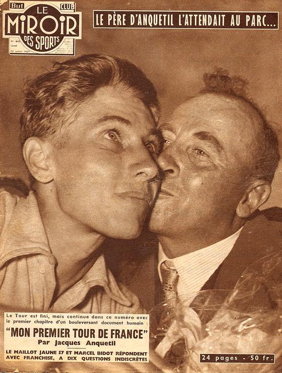 Tour 1957 Anquetil et son père au Parc blog