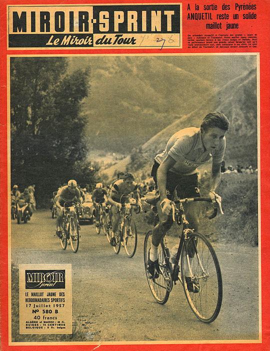 Tour 1957 Anquetil solide leader à la sortie des Pyrénées blog