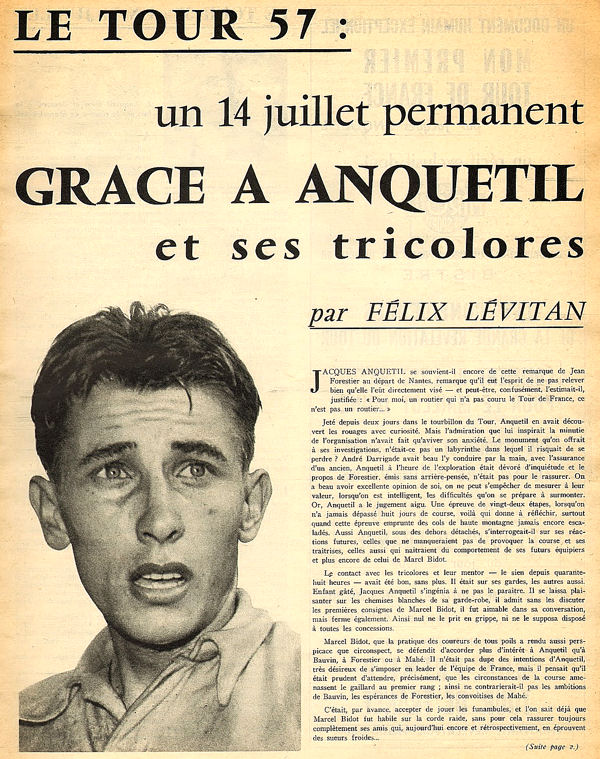 Tour 1957 Apres Tour Anquetil blog