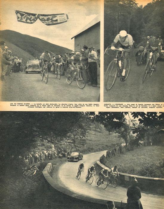 Tour 1957 AX-St-Gaudens Anquetil à l'ouvrage Portet d'Aspet blog