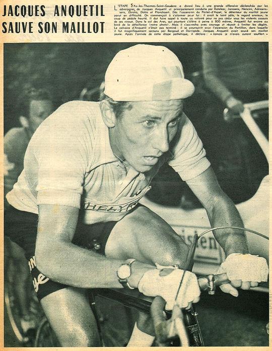 Tour 1957 Ax-St Gaudens Anquetil sauve son maillot blog