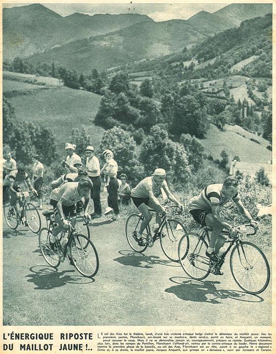 Tour 1957 Ax-St-Gaudes Riposte d'Anquetil blog