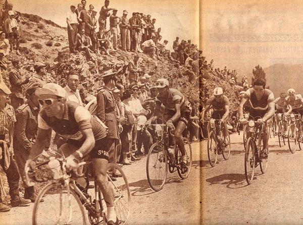 Tour 1957 Bauvin mène col de Tosas blog