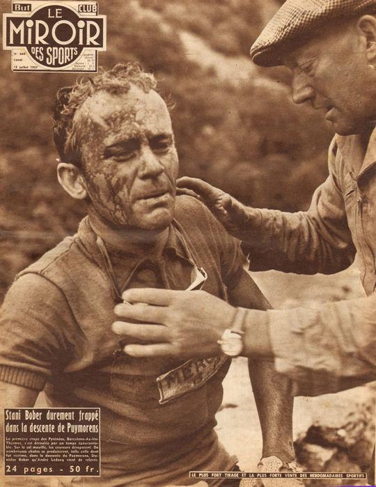 Tour 1957 Bober chute dans Puymorens blog