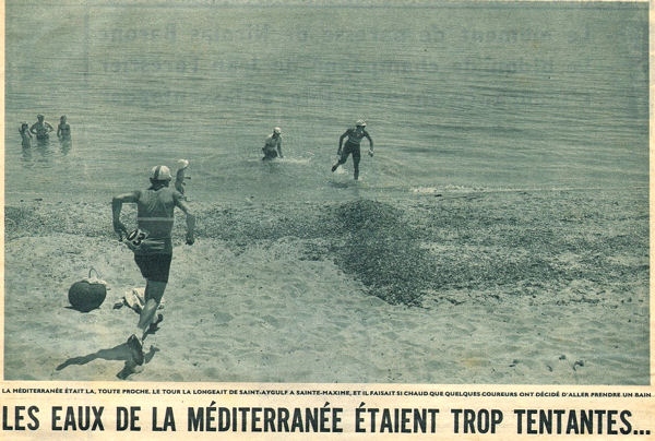 Tour 1957 Cannes-Marseille baignade  blog