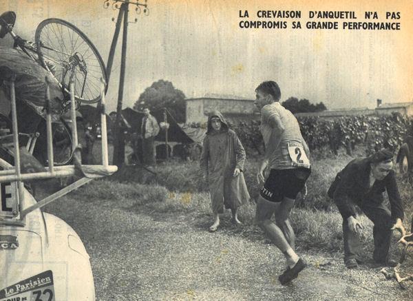 Tour 1957 CLM Libourne crevaison Anquetil blog