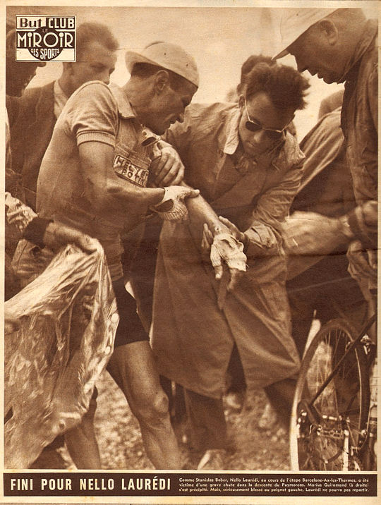 Tour 1957 Lauredi chute dans Puymorens blog