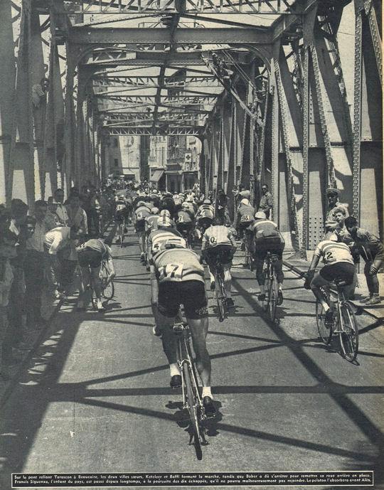 Tour 1957 Marseille Alès pont de Beaucaire blog