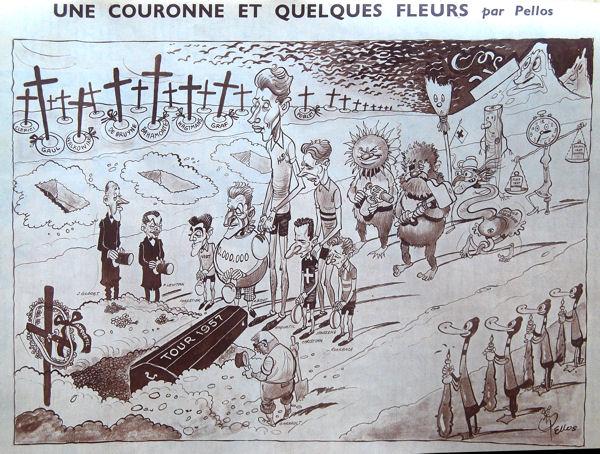 Tour 1957 Pellos Fin du Tour blog