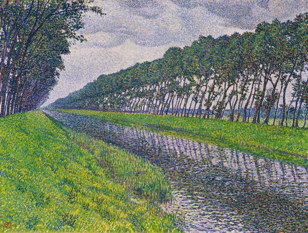 van-rysselberghe-le-canal-en-flandre-par-temps-triste-1894 blog