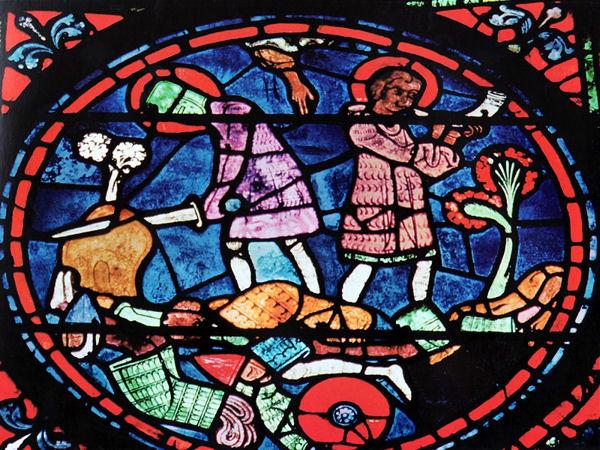 Roncevaux vitrail Chartres blog