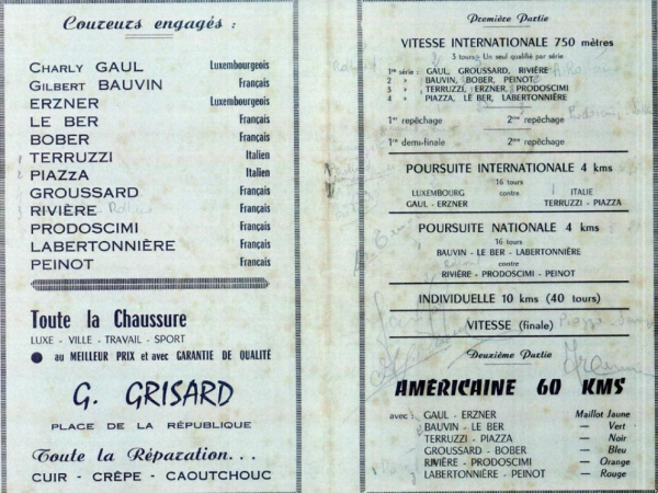Lurcy Levis 1956 programme