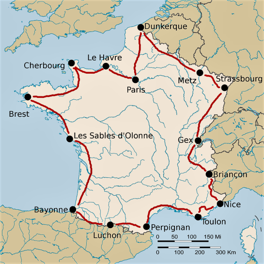 carte du tour-de-france-1924
