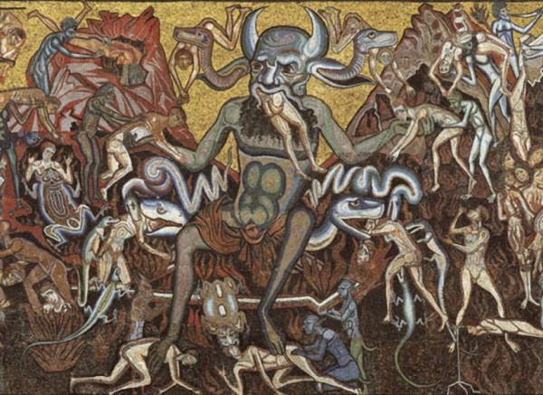Baptistère L'enfer