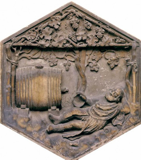 Ivresse de Noé andrea Pisano 1336