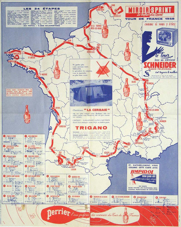 Carte Tour 1958